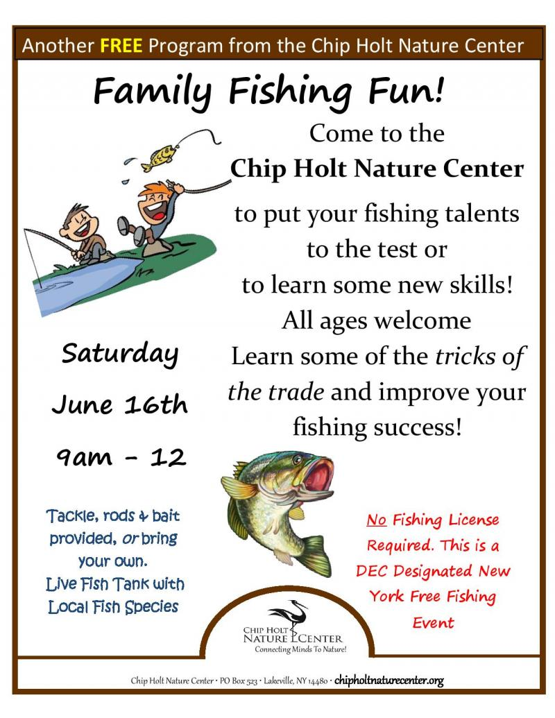 Chip holt nature center home for What do you need to get a fishing license