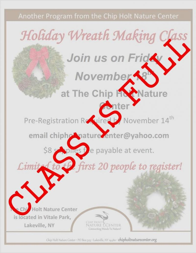 wreath making closed